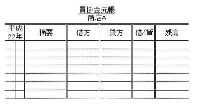日商簿記3級:買掛金元帳について 練習問題
