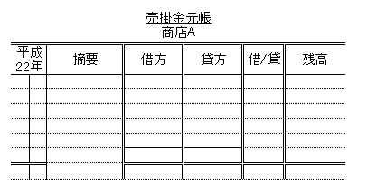日商簿記3級:売掛金元帳について 練習問題